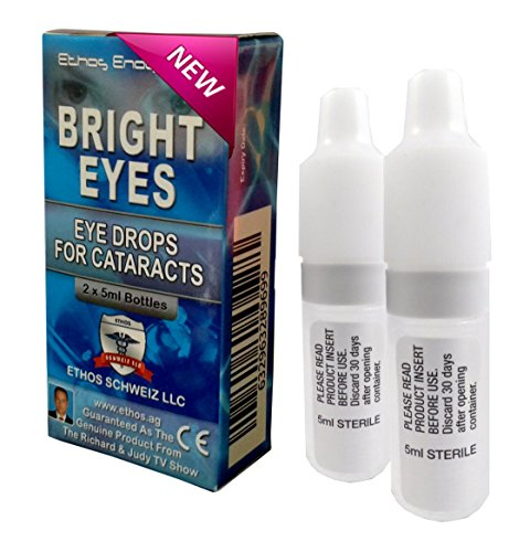 "Ethos Bright Eyesâ""¢ Carnosine NAC Eye Drops - 2 x 5ml Bottles - NAC Eye Drops (Safe for Cataracts Sufferers) - As Seen on UK National TV with Amazing Results! NAC n acetyl carnosine eye drops..."