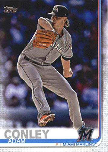 663 Baseball - 2019 Topps Series Two Baseball #663 Adam Conley Miami Marlins Offical MLB Trading Card