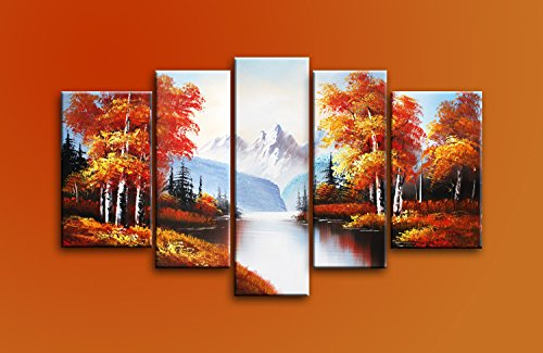 ode-rin-art-home-kitchen-hand-painted-wall-art-oil-paintings-canvas-wood-framed-landscapes-paradise-