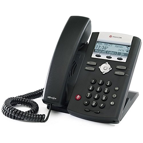 Polycom 2200-12375-001 SoundPoint IP 335 HD Corded VoIP Phone (2 Line PoE) (Renewed)