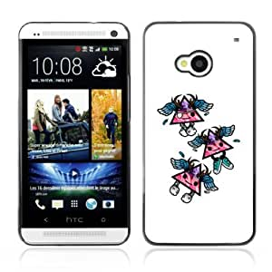 Designer Depo Hard Protection Case for HTC One M7 / Cool Triangles