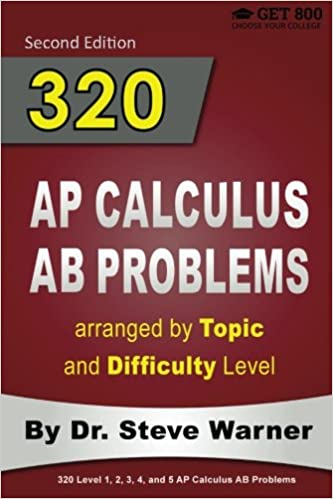 320 AP Calculus AB Problems arranged by Topic and Difficulty