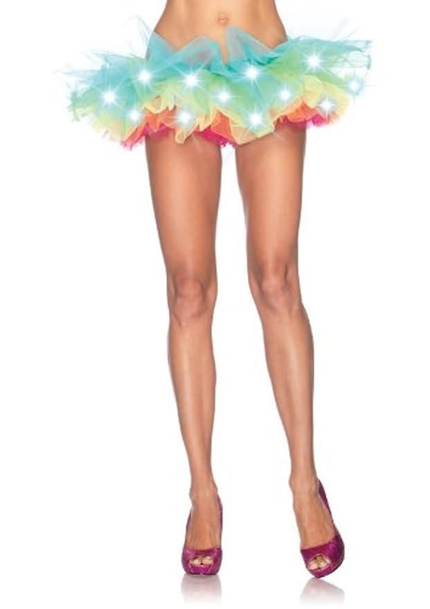 Falda tutú de tul multicolor con luces LED para fiesta