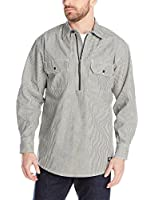 Dickies Men's Long Sleeve Half Zip Logger Shirt