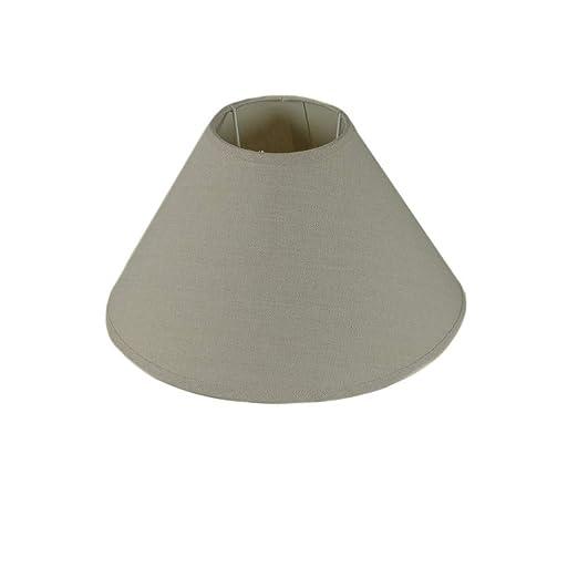 tapidecor Pantalla para LAMPARA DE Mesa CONICA 30X17 Lino Gris ...