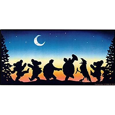 "Moondance Dancing Bears, Terrapins and a Crow Dancing in The Moonlight – Window Sticker/Decal (7.75"" X 3.75""): Automotive"
