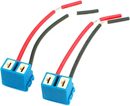 Amazon.com: uxcell 2pcs DC 12V 2-Wires Automotive Car H7 Headlight Lamp  Bulb Socket Wiring Harness Connector Pigtail Adapter: AutomotiveAmazon.com