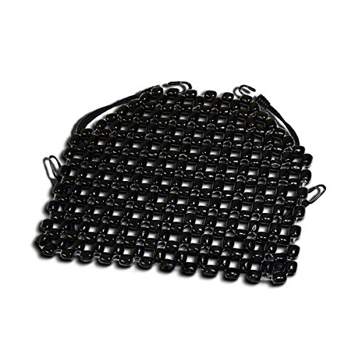Zento Deals Double Strung Wooden Beaded Ultra Comfort Massaging Seat Cover - Black Superior Quality Massaging Car Motorcycle Seat Cover for Ultimate Relaxation!