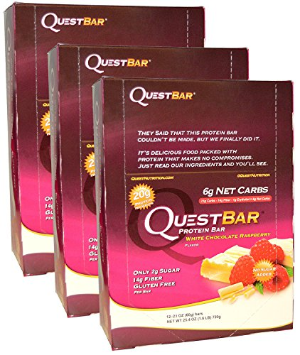 Quest Nutrition - White Chocolate Raspberry - (36 - Quest Bar White Chocolate
