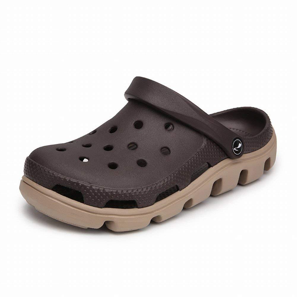 FuweiEncore Loch Schuhe Strand Schuhe Liebhaber Loch Schuhe Herrenschuhe Damenschuhe Rutschfeste Sandalen und Hausschuhe (Farbe   Khaki, Größe   43)