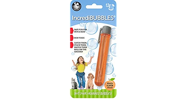 Pet Qwerks Peach Flavor Infused Incredibubbles: Amazon.es ...