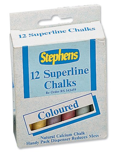 Stephens Superline Chalk Assorted Colours Ref RS543442 [Pack 12] West Design Products 433829
