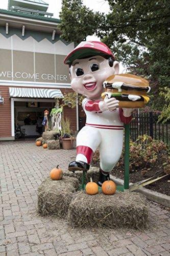 Photograph | Statue of a Frisch's Big Boy hamburger-chain mascot, dressed in a Cincinnati Reds' baseball team uniform, stands at the Cincinnati Zoo and Botanical Garden 44in x 66in