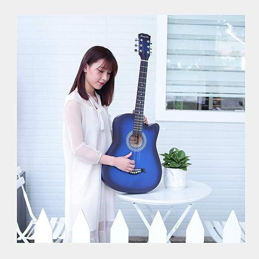 YJFENG-Guitarra Acústica Cuerdas De Alambre Panel De Tochigi ...