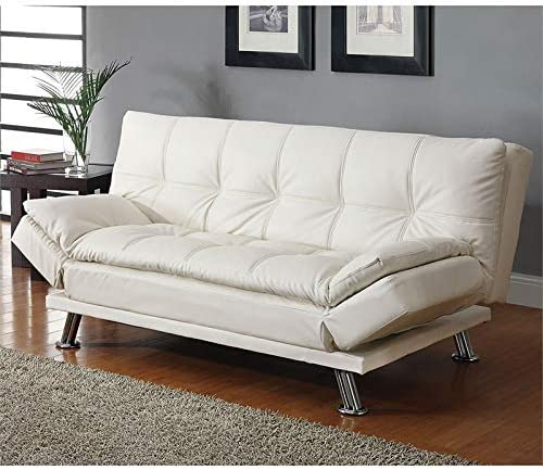 BOWERY HILL Faux Leather Sleeper Sofa