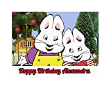 Max and Ruby Edible Image Photo Cake Topper Sheet Personalized Custom Customized Birthday Party - 1/4 Sheet - 78837