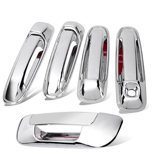 New For 03-08 2003 2004 2005 2006 2007 2008 DODGE Ram 1500 3500 Chrome Door Handle Cover + Tailgate Cover Trim Warranty Hot by 99Parts