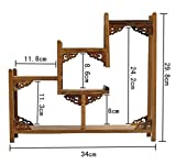 NWFashion Chinese Wooden Assemble Display Stand Ladder Up Curio Cabinets Shelf (3)