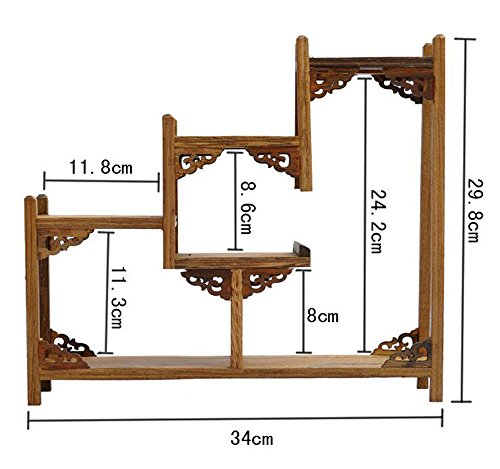NWFashion Chinese Wooden Assemble Display Stand Ladder Up Curio Cabinets Shelf (3) by NWFashion