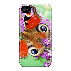 Quality AnnetteL Case Cover With Butterfly Nice Appearance Compatible For Apple Iphone 4/4S Case Cover