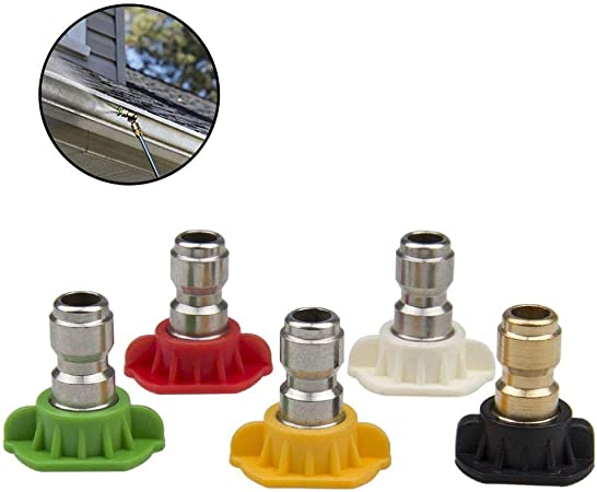 """5 Pcs Pressure Washer Spray Nozzle Tips Jet 1//4/"""" Quick Connect 3.0 GPM Car Wash"""