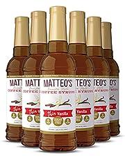 Matteo's Sugar Free Coffee Flavoring Syrup, Vanilla, Delicious Coffee Syrup