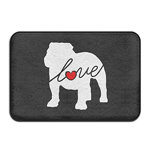 Janscomy English Bulldog Loveq Super Absorbent Anti-Slip Mat,Coral Carpet,Carpet Door Mat,Carpet,Carpet,Door Mat,40x60 Cm