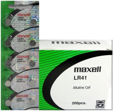200 Pack Maxell LR41 AG3 192 button cell battery