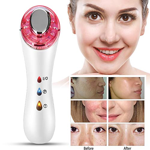 (HURRISE 5 in 1 Portable Facial Machine,Home Use Facial Skin Care Lifting Tighten Remove Wrinkles Anti-Ageing Facial Massager)