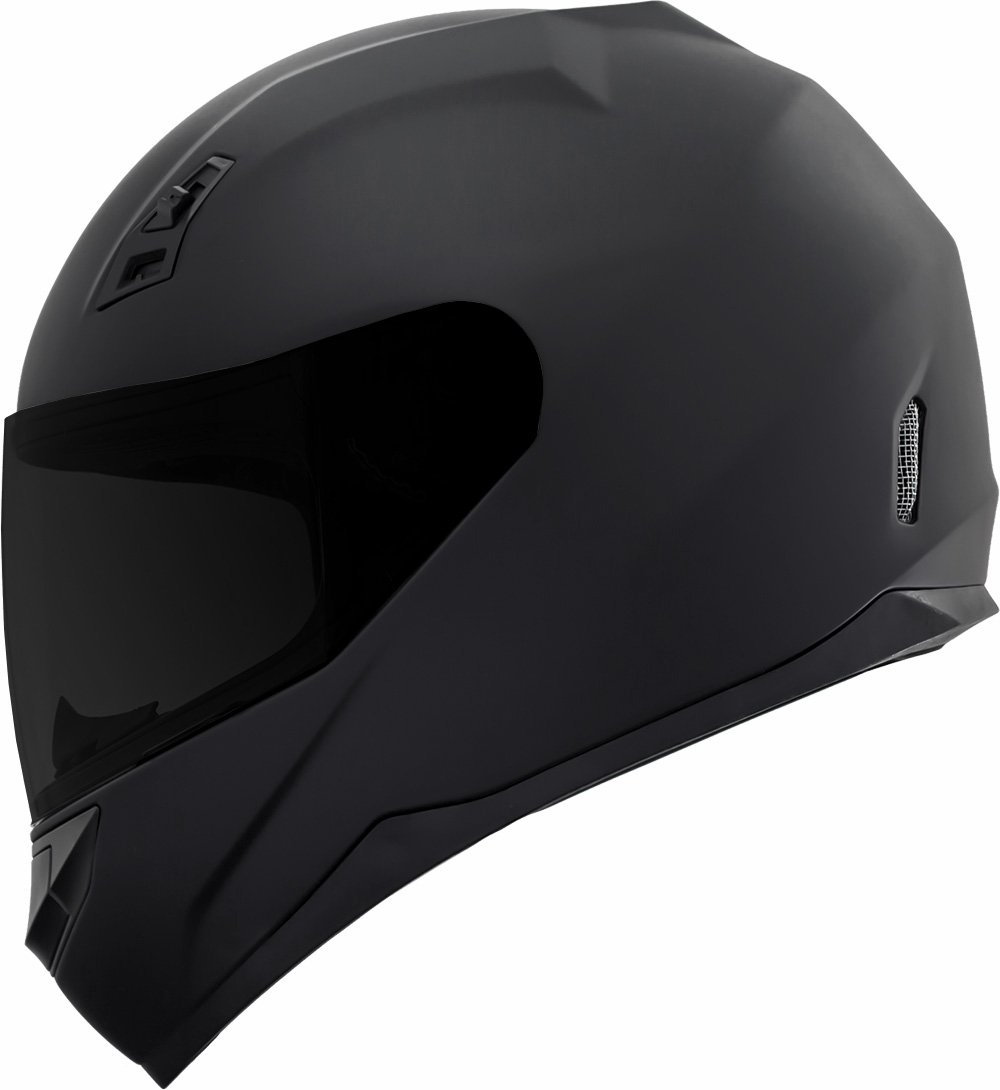 GDM DK-140-MB Duke Series Full Face Motorcycle Helmet with Clear and Tinted Visors - XXL, Matte Black by GDM