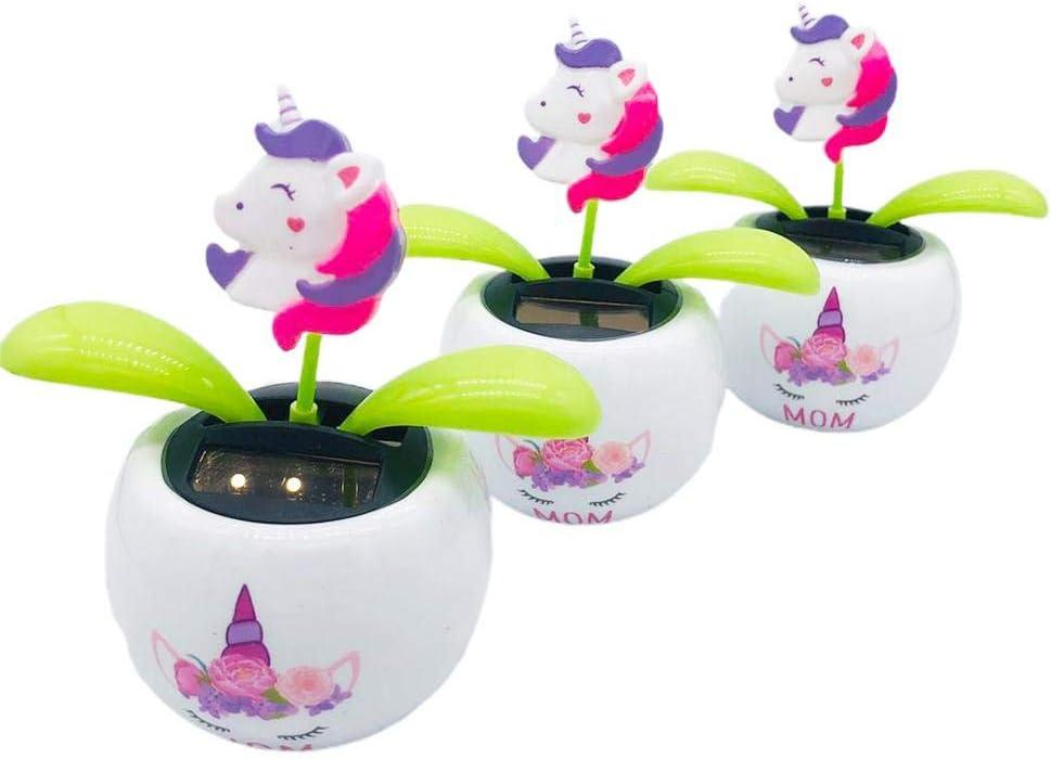 Powered Swinging Animated Bobble Dancer Toy Car Decor Kids Toys Gift Solar Dancing Flower