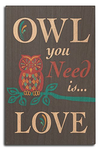 Owl You Need Is Love (Wood Wall Sign, Wall Decor