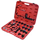 Goplus 28PCS Radiator Pressure Tester Vacuum Type Cooling System Purge and Refill Kit W/Case