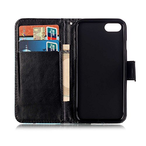 Apple iPhone 7 Sac étui Cover Case de protection en cuir synthétique Loups Multicolore decui Multicolore Housse en simili cuir