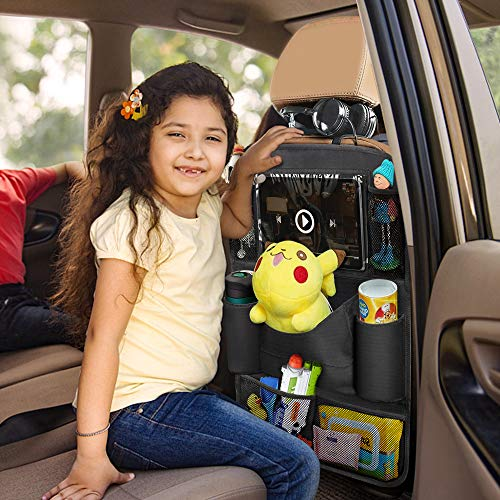 OYRGCIK Backseat Car Organizer, Kick Mats Car Back Seat Protector with  Touch Screen Tablet Holder Tissue Box 8 Storage Pockets for Toys Book  Bottle Drinks Kids Baby Toddler Travel Accessories, 2 Pack   Pricepulse
