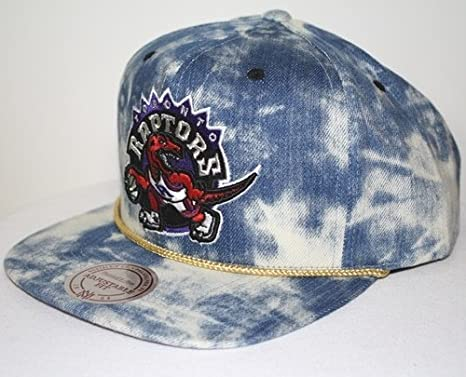 31fb8dcbf1b092 Image Unavailable. Image not available for. Color: New Mitchell & Ness Blue  Acid Wash Denim Snapback Hat Cap (NBA Toronto Raptors)