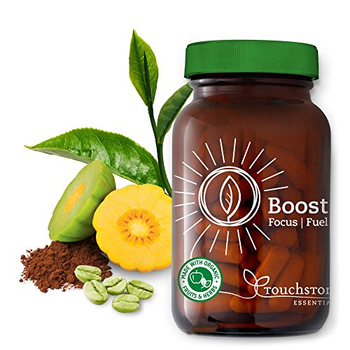 Boost Focus Fuel by Touchstone Essentials, Natural Energy, Metabolism Boost, Vegan, Non-GMO, 30-day Supply, 90 capsules