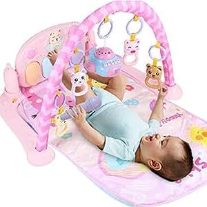 ZZM Baby Kick & Play Piano Gym Pink