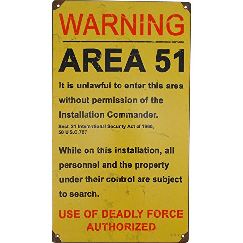 Area 51 Vintaged Metal Sign ()