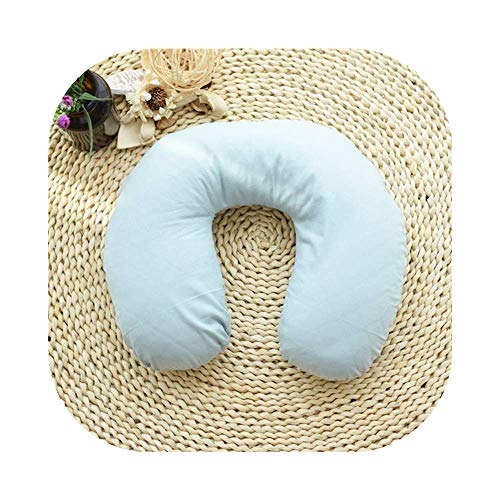 Edomi Buckwheat Neck Pillow, Comfortable U Shaped Travel Pillow, Neck Pain Relief Pillows, Portable Pillow for Sleeping Recliner Chair -Washable Pillowcase, Buckwheat Hulls Filling (Macaron Blue)
