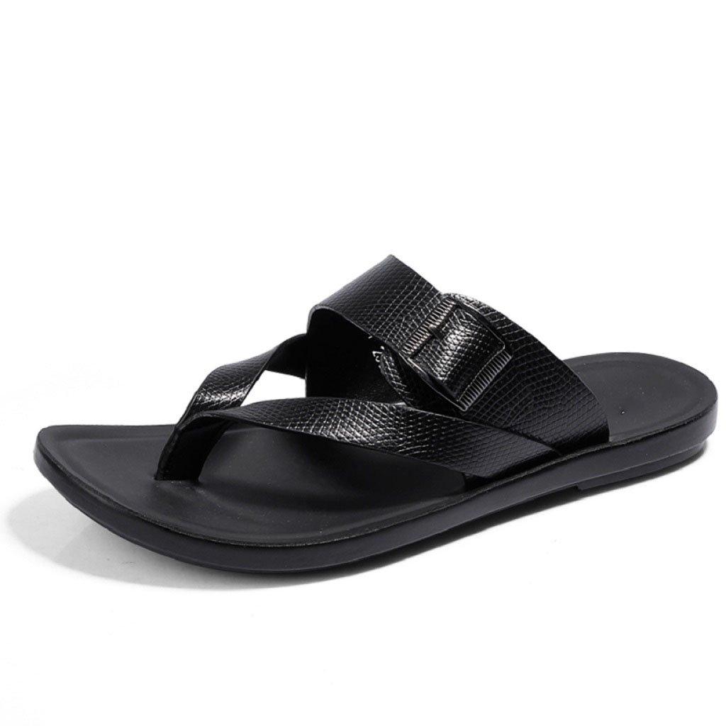 LQV New Herren Casual Sandalen Sommer New LQV Style Toe Personalisierte Hausschuhe Fashion Outer Beach Schuhe schwarza e71b86