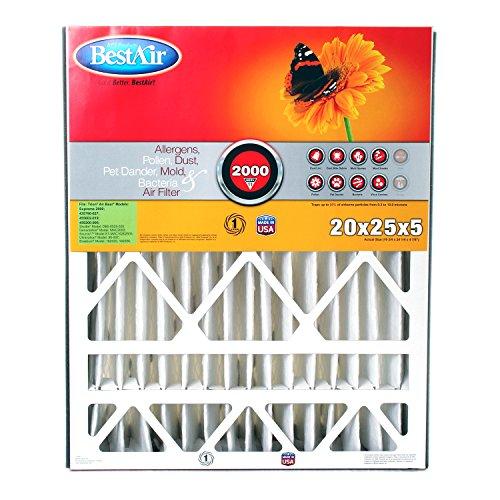 BestAir AB2025-11R Furnace Filter, 20 x 25 x 5, Trion Air Bear Replacement, MERV 11