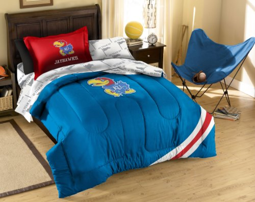 The Northwest Company Officially Licensed NCAA Kansas Jayhawks Twin Bedding Set