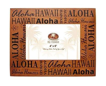 Amazon Aloha Hawaii Wood Picture Frame 4 X 6 Hawaii