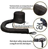 Bonnet Hair Dryer Attachment-W/ 10 Silicone Hair