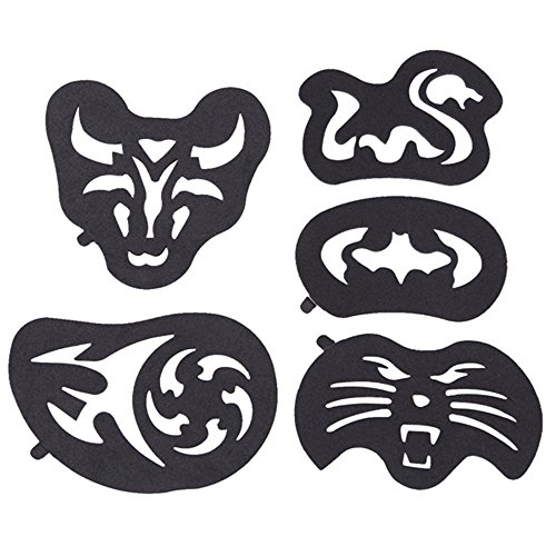 25 Pieces Clippers Tattoo Trimmer Fashion Hair Tattoo Template Carving Trimmer Tattoo Hair Clipper Accessories Hair Dye Accessories by hair Tattoo (Image #4)