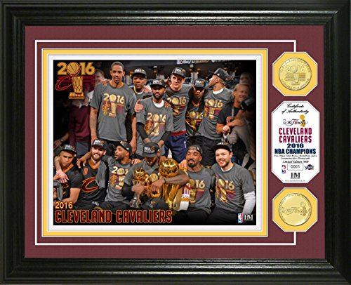 NBA Cleveland Cavaliers 2016 Finals Champions Coin Photo Mint, 17'' x 14'' x 3'', Bronze by The Highland Mint