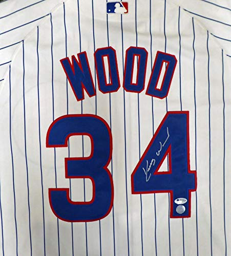(Kerry Wood Signed Jersey - White Majestic Beckett BAS #H44564 - Beckett Authentication - Autographed MLB Jerseys)