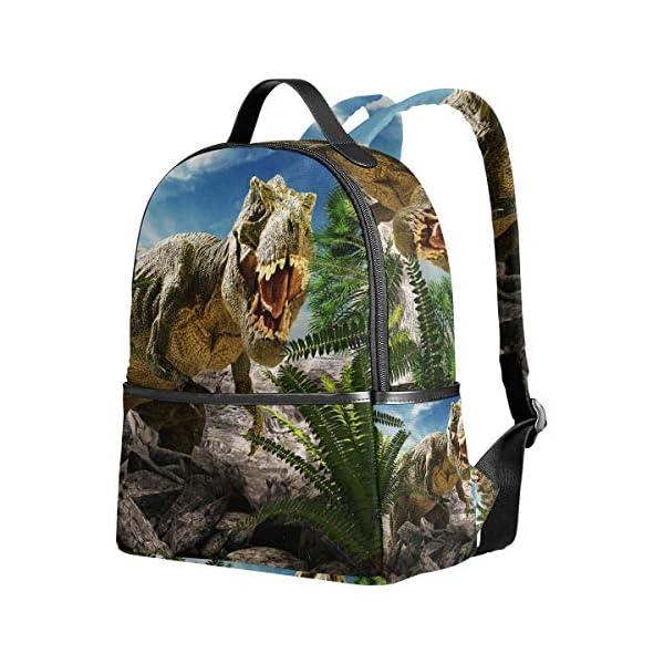 Dinosauro 3D Tyrannosaurus Rex zaino per donne adolescenti ragazze borsa borsa alla moda borsa per bambini viaggio… 2 spesavip