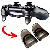 eXtremeRate® 2 Pairs Transparent Brown L2 R2 Buttons Trigger Extenders for PlayStation 4 PS4 PS4 Slim PS4 Pro Controller